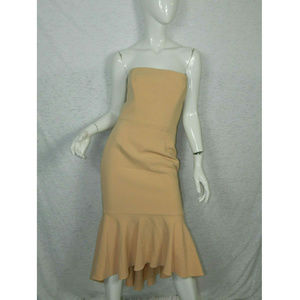 Black Halo Strapless Peach Cocktail Dress Size 2